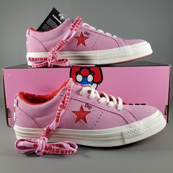 0afe44ee9877 Converse X Hello Kitty One Star Ox Women Shoes 7.5